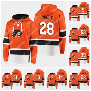 Filadelphia Flyers 2020 Dasher Player Hoodie Carter Hart Claude Giroux Kevin Hayes Sean Couturier Jakub Voracek Gostisbeher Uskar Lindblom