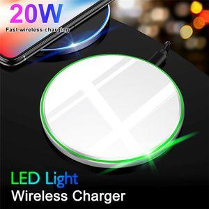 Caricabatterie wireless veloce per iPhone 12 12Pro 11 Pro XS Max XR USB Qi Pad di ricarica per Samsung S10 S9 Nota 10 con scatola al dettaglio