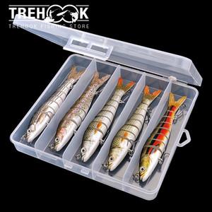 5pcs 14cm 23g Sinking Swimbait 8 Segments Wobblers Fishing Lure Multi Jointed Hard Bait Crankbait Fishing Lures Set Wobbler Q1123