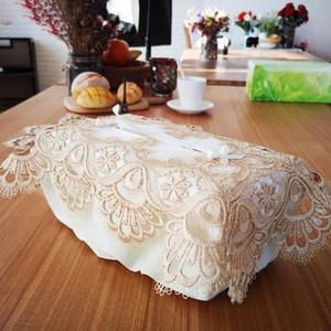Craft хранение украшение стола Tissue Box Дисплей вышивка смазливой Салфетка Дело Современного дом кружевная отделка подарки пылезащитная