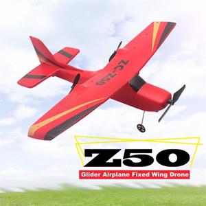 Z50 2.4G 2CH 350MM Micro Winspan Control remoto RC Glider Avión Avión Avión fijo Epp Drone con gyro incorporado para niños Y200413