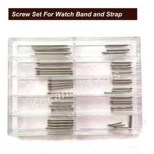 Tige de tube à vis pour bande de montre en métal 50pcs 10 tailles d'acier inoxydable Outils de réparation de montre 8.5mm - 26mm Livraison gratuite