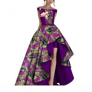 Winter Party Dresses Women Dashiki Africa Print Wax African Clothing Bazin Riche Africa Sexy Dress For Women WY3505