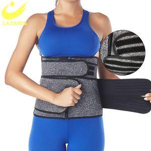 LAZAWG Slimming Sweat Belt Women Neoprene Waist Trainer Body Shapers Trimmer Girdle Workout Fitness Sauna Underbust Corset Band