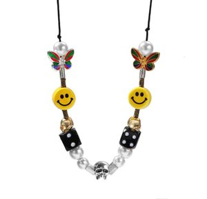 Beads Color Skull Arrived Pearl Rhinestone Necklace New Pendant Necklace Gold sqcVI hat7890
