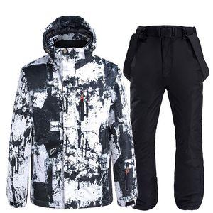 Leosoxs New Ski Suit Men's Snowboard Snowboard Ski Ski Ski Outdoor al aire libre A prueba de viento A prueba de agua Termómetro Snowsuit