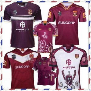 2019 National Rugby League Queensland 2018 QLD Maroons Malou Rugby Jersey 2019 QLD Maroons Etat d'origine Jersey de rugby