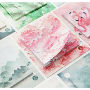 Mohamm 30 листов вишневого цветения фламинго планировщик наклейки липкие заметки записки накладки кавайские канцтовары записки накладки