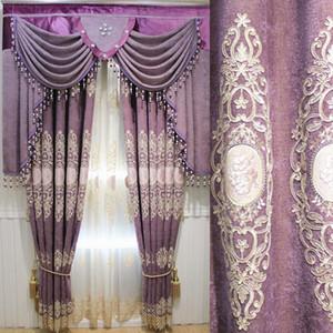 Европейские роскошные шторы для оконных шторых стилей для гостиной элегантные драпирует европейские вышитые