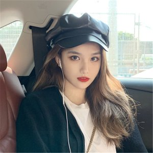 Girls Long Curly Straightly Synthetic PU Cap Wigs Hair product Naturally Connect One Pieces Octagonal Hat Wig Autumn Winter k219