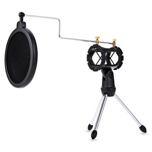 PS-05 Adjustable Desktop Tripod Studio Condenser Stand for Microphone Mic with Windscreen Filter Cover