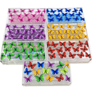 NEW 20 30 pack 25mm Eyelash Packaging Box wholesale Lash Boxes Packaging 3d Mink eyelashes butterfly print Acrylic case Storage