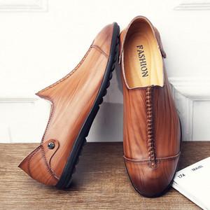 EXTERIOR TRESS CORROCTERS CASOS CASOS CASOS DE SOLOS 2018 Otoño New Hombres Set Pie Foot Lazy Shoes Zapatos de conducción de moda al por mayor