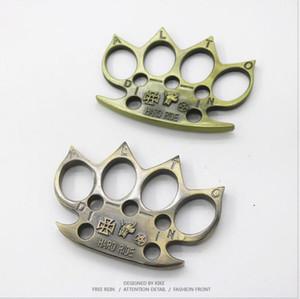2020 Nuova Tigri in ottone Four Finger Tigers EDC Self Protection Ring Donne e Uomo Strumento di difesa di sicurezza