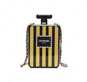 High Quality Perfume Bottle Personalit Evening Bag Fashion Shoulder Crossbody Cosmetic Bags Trendy Female Totes Chain handbag Bridesmaid Bag