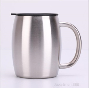 Tumbler Handle Stainless Steel Mugs With Lid 14OZ Double Walled Insulated Cup Coffee Beer Tea Mug Water Bottle SEA SHIPPING OWC3014