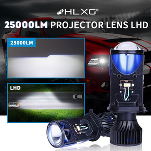 25000LM H4 Lens LED Lamp Bi-LED Mini Projector Lenses Auto Car Headlight Bulbs Fog lights Hi Lo Beam Left Hand Drive LHD hlxg