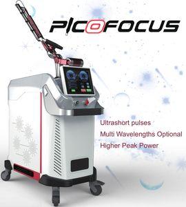 Le meilleur laser PicoSecond pour salon Spots de tatouage Détendez la peau Dommages cutanés Laser Traitement du visage Machine beauté avec 1064 532 755nm