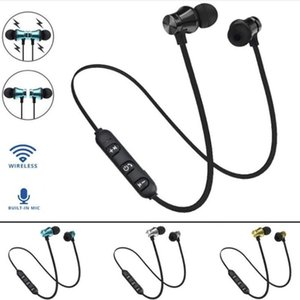 Magnetic Wireless Bluetooth Earphone XT11 Music Headset Phone Neckband Sport Earbuds With Mic For iPhone LG Headphone with Retail Box