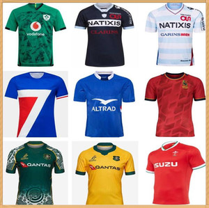 2020 Racing 92 Rugby Jersey Camicia da rugby 2019 2020 Francia Rugby Ireland Spagna Galles Australia Training Jersey
