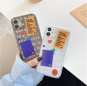 Étui de téléphone Stratégie droit de 100pcs Rubik's Cube Case personnalisé Label Anti-Drop Soft Case pour iPhone XR / 11Pro pour iPhone 12 Pro Mas Case