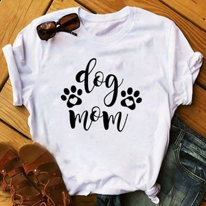 Women 2020 Fur Dog Paw Mom Print Funny Animal Pet Lady Clothing Ladies Graphic Female Womens Top T Shirt T shirts Tee