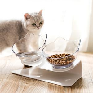 Çift Kedi Köpek Kaseler Pet Gıda Su Kase Kaymaz Omurga Koruma Çok Amaçlı Pet Besleme Kase Okyanus Gemi Kutusu Paketi HHA1700