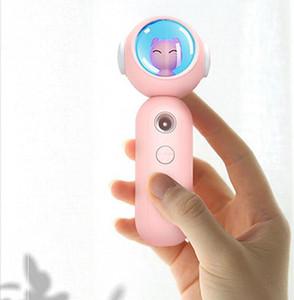 Humidificador de cara Portátil USB Cargando Nano Pulverizador Oso Lucky Cat Mist Spray Facial Hidratación de la belleza DHB3679