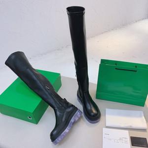 Bottes de tube de fumée en cuir véritable de qualité originale 2020 NOUVEAU FOND GREEN FOI DE FEMME FILLET BOIT KNIGNIER
