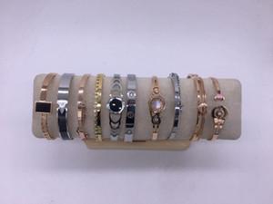 fashion mixed lot Rose gold fashion titanium steel bracelet 10pcs lot a mixed bag, wholesale! F1201