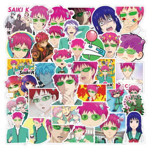 50pcs set Saiki Kusuo no Sainan anime Small waterproof stickers for notebook laptop bottle sticker