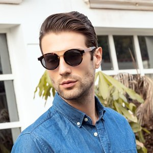 LONSY Vintage Acetate Wood Sunglasses Sunglasses UV400 Polarized For Men Women High Quality Retro Sun Glasses Ladies LS6013