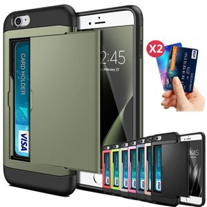 For iphone SE 2 2020 7 8 Plus 6 6s Plus 7Plus 8Plus Slide Business Armor Wallet Card Slots Holder Cover For iphone 5 5s 7+ Funda