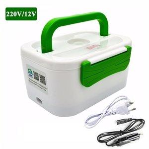 Tenbroman Calefacción eléctrica Home Car 12V 220V Enchufe Cajas de almuerzo Plástico o Acero Contenedor Portátil Plato Portátil Bento Becgo 201210