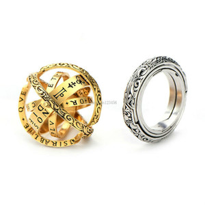 Anillo de bolas astronómico de plata plateado pliegue el anillo de astróscopio para las mujeres de la joyería de moda de los hombres y Sandy New