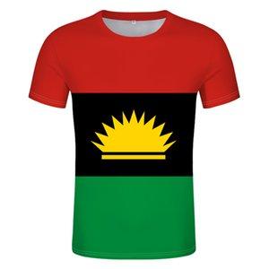 Biafra Flag T-shirt free custom name number Biafra summer mens and womens sports T-shirt print photo logo clothing