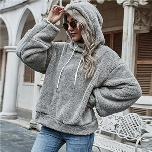 2020 new Europe and the United States top selling long-sleeved belt with a hat casual women's Hoodie