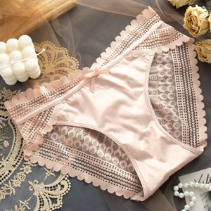 Womens Lace Panties 2020 New Styles Ladys Daily Briefs Women Sexy Mid-rise Translucent Briefs Ladys Wholesale Underwears Wholesale