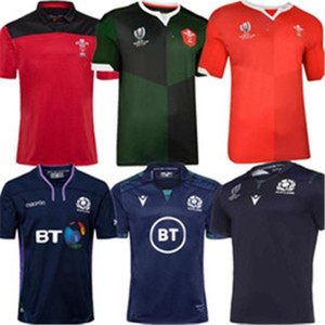 Migliore qualità 19 20 2021 Galles Home New Scotland Rugby Jerseys 19 20 National Rugby League Galles Galles Maglie Rugby Red Mens Size S - 3XL