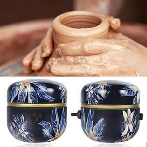 1500RPM Mini Pottery Machine Electric Pottery Rotella Strumento di argilla fai da te con vassoio per adulti Bambini Ceramica Art Rotella macchina
