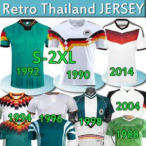 Retro Alemania Soccer Jersey Classic Vintage 1980 88 1990 92 94 96 98 2004 06 14 Klinsmann Matthaus Deutschland Fúobol Fooball Uniforme