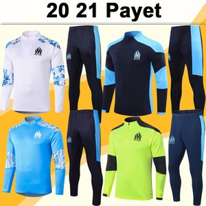20 21 21 Thauvin Training Suit Mens Soccer Jerseys Nuovo Payet Benedetto Kamara Sakai Sanson Blue Blue Blank Tracksuit Kit Camicie da calcio Suirt