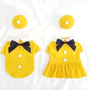 2020 New Dog Clothing Hat Couple Pet Clothes Boy Dog T-shirt Girl Dog Dress Skirt Summer Cat Yorkshire Chihuahua Puppy Costume LJ200923