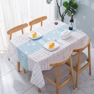 Table Carpet Waterproof Pvc Tablecloth Oil Tablecloth with Kitchen Pattern Soft Cloth Table Cover 137*90cm 137*137cm 137*152cm 137*180cm