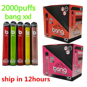 Bang XXL Disposable Vape Pen 2000puffs Bang XXTRA 6ml Vapes Disposable Electronic Cigarettes Starter Kits Empty Custom Vapor Pens