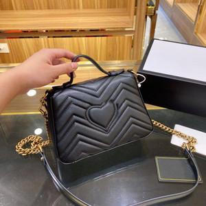Hot 5A Klassische Brieftasche Handtasche Damen Mode Tasche Liebe Kupplung Tasche Weiche Leder Schultertasche Falten Messenger Bag Crossbodybag mit Kasten Großhandel
