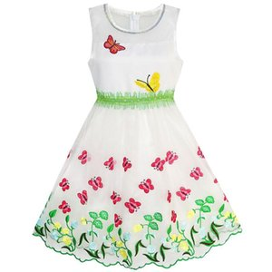 Girls Dress Butterfly Party Birthday Sundress 2020 Summer Princess Wedding Dresses Kids Clothes Size 5-12 Pageant Carnival