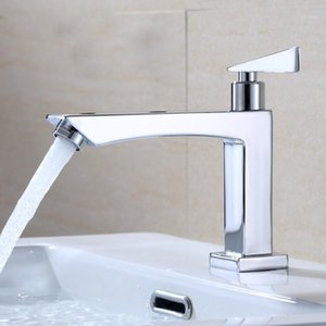 Bathroom Faucet Zinc Alloy Basin Faucet Deck Mounted Sink Single Cold Single Handle Tap Corrosion Resistance Taps Freeship1