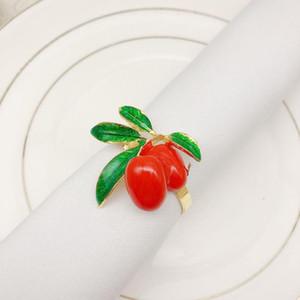 4pcs lot Hot Sale Creative Napkin Ring Metal Fruit Napkin Buckle Holder Christmas Wedding Party Desktop Decoration