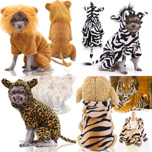 Flannel Keep Warm Dogs Clothes Four Legs Cats Pets Teddy Lion French Bulldog Supplies Costume Autumn Winter Dog Coat Hot Sale 14gga M2